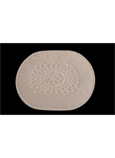 ikinciten Banyo Klozet Paspası Halısı 2'Li Takım Seti Kaymaz Taban Yumuşak Yıkanabilir Ekru  60X50 - 100X60 Ekru